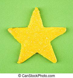 Star sugar cookie.
