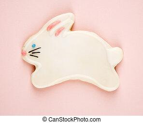 Bunny sugar cookie.