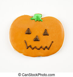 Pumpkin sugar cookie.