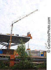 Crane helping in bridge lift Public project (tax financed):...