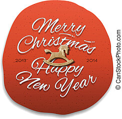 Happy New Year 2014 Greeting Card, vector Eps10...