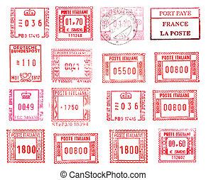 rectangular postmarks