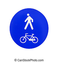 traffic signal, only pedestrians and bicycles