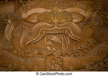 Hanuman,ramayana,the king of monkeys in the ramaya - Wood...
