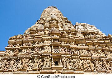 Kandariya Mahadeva Hindu Temple at Khajuraho in the Madhya...