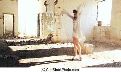 Psychopath wearing camisole