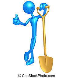 Shovel - 3D Concept And Presentation Figure
