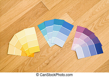 Paint color swatches.