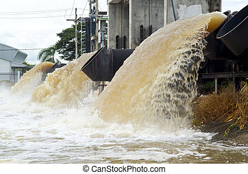 lot of water pipe. - large water pipe pump flood water and...