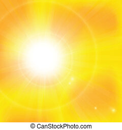 abstract background with orange sun rays - Warm sun light....