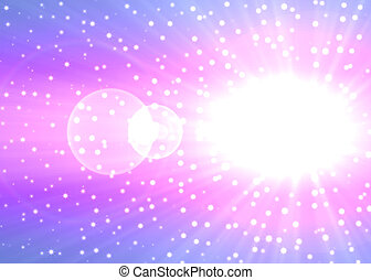 Blast - Big white star in the space background