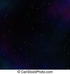 Dark space background with clouds