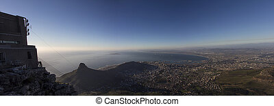 Lions Head and Cape Town Panorama - A Panorama of Lions Head...