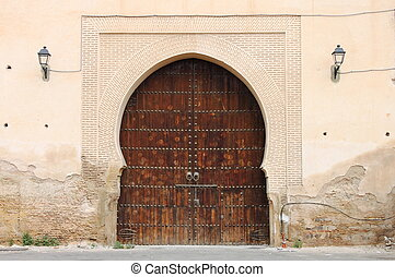 Arabic door - Arabic oriental styled door in Meknes, Morocco