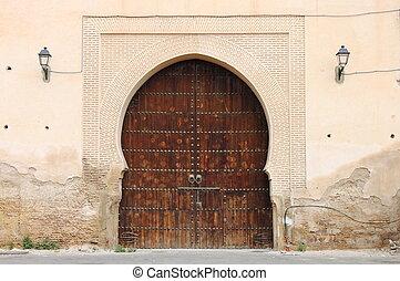 Arabic door - Arabic oriental styled door in Meknes, Morocco