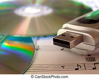CD DVD MP3 player - Music data storage supports including...