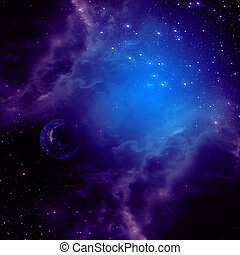 Space background with purple clouds - Purple space clouds...