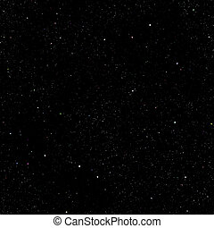 Starry sky - Abstract dark deep space background with stars