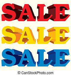 sale text vector - image of Sale Vector Color Label...