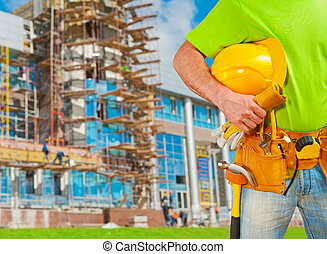 a worker with tools