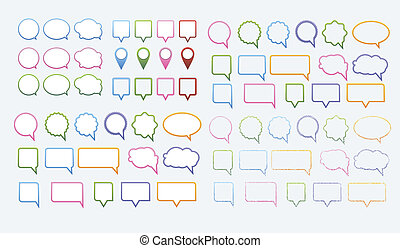 speech bubbles vector set - Vector set of various speech...