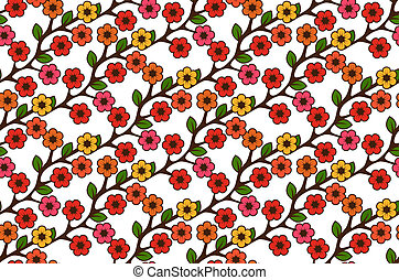 Floral seamless rustic pattern