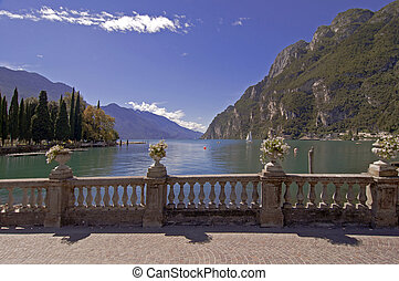 Garda Lake, Italy - Garda lake at Riva del Garda, Italy, on...