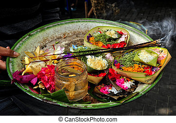 Flower Offering with Incense