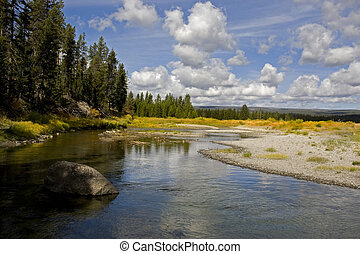 Grand Teton National Park - Snake River in grand Teton...