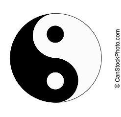 Yin & Yang.  - Yin & Yang - vector illustration.