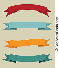 Set of vintage banners. Vector illustration.