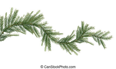 Christmas Garland - Christmas garland made from fir twigs on...