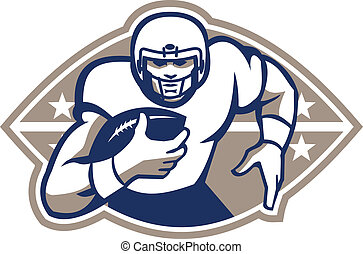 American Football Runningback - Illustration of an american...