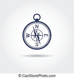 Glossy Compass. Vector Illustration.