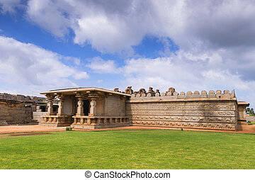 Hazara Rama Temple, Hampi, Karnata - Old indian temple in...