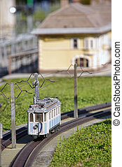 train - miniature train in park