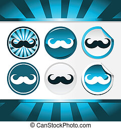Movember Mustache Awareness Buttons - Buttons and stickers...