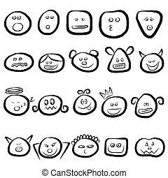 emoce, dát, Postavit Se Obličejem K, ikona