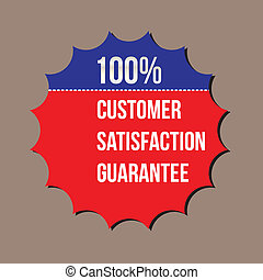 100% customer satisfaction guarantee, vector format