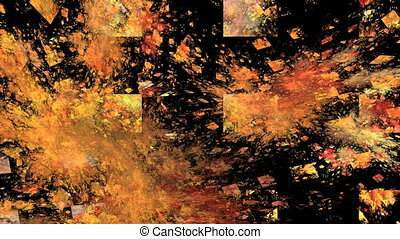 Abstract Rotating Orange Object on Black