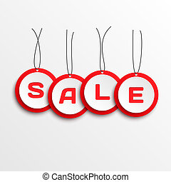 Sale tags. - 3d Sale tags. Vector illustration