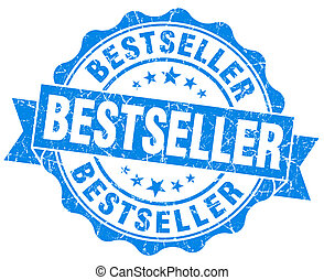 bestseller blue grunge stamp