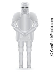 knight armor vector illustration isolated on background