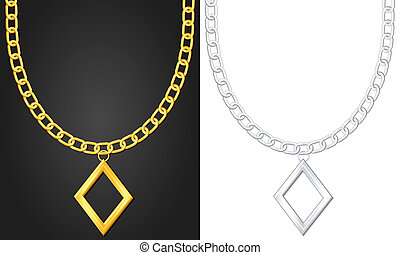 necklace with diamond symbol