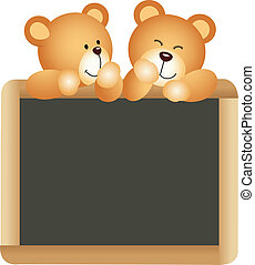 Teddies School Board - Scalable vectorial image representing...