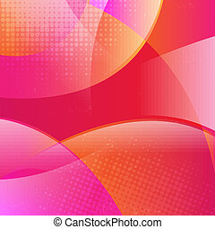 Pink Dinamic Background With Gradient Mesh, Vector...
