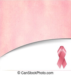 Pink Vintage Background With Pink Ribbon, With Gradient...