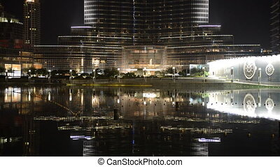 The view on Burj Khalifa and man-made lake