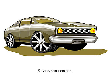Ford Fairmont Car Retro - Illustration of green ford...