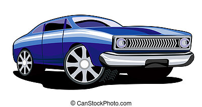 Ford Fairmont Car Retro - Illustration of blue ford fairmont...